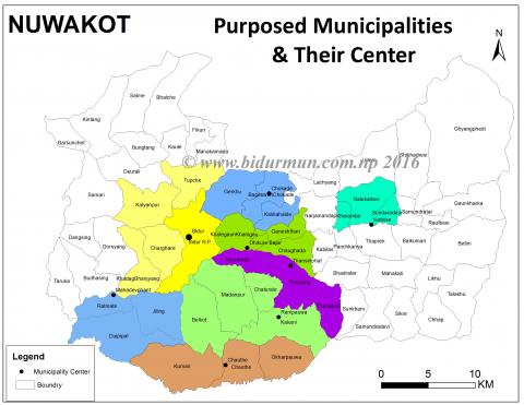 purposed municipalities in nuwakot